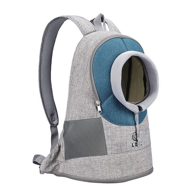 Portable Travel Backpack Outdoor Ventilation For Small Dogs and Cats-Cat bags-petsoftcare-Blue-L-petsoftcare