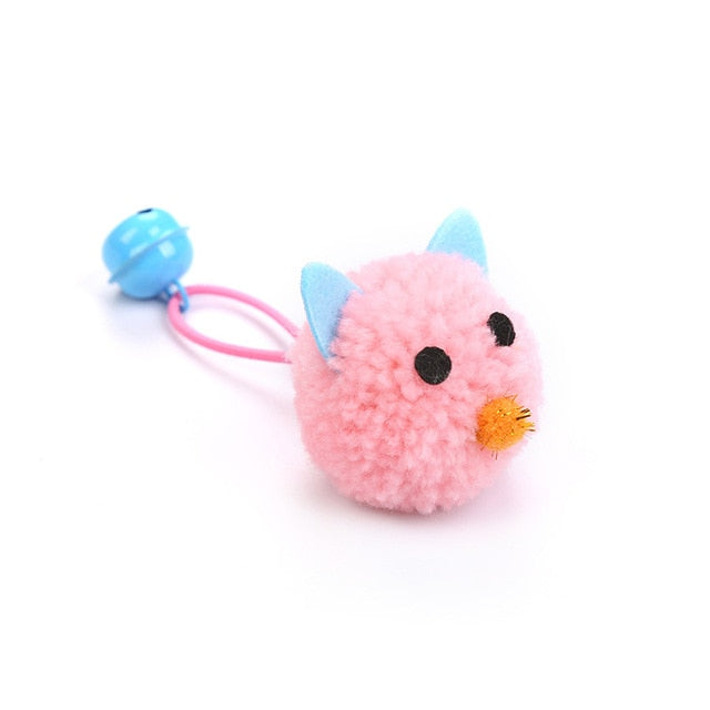 Plush Mouse Head Shape Bells Toys For Cats-Cat toys-petsoftcare-1pcs Pink-France-petsoftcare