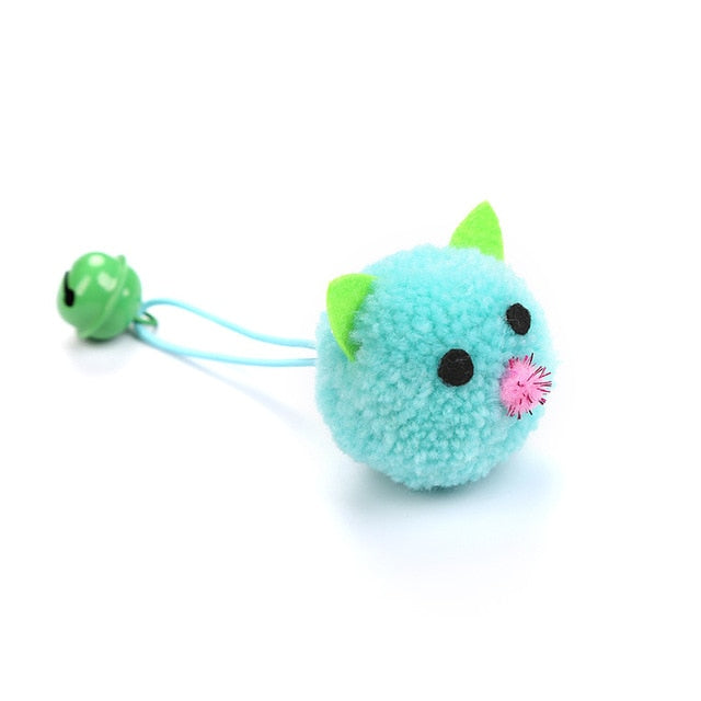 Plush Mouse Head Shape Bells Toys For Cats-Cat toys-petsoftcare-1pcs Blue-France-petsoftcare