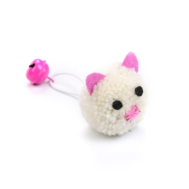 Plush Mouse Head Shape Bells Toys For Cats-Cat toys-petsoftcare-1pcs White-France-petsoftcare
