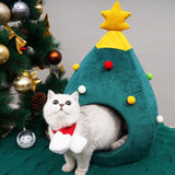 Foldable Soft Christmas tree Shape Cat Dog House-Cat Trees & Condons-petsoftcare-petsoftcare