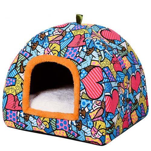 Comfortable Warm Bed Cat Cave-Cat bed-petsoftcare-3-M-petsoftcare