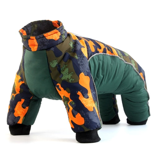 Dogs Waterproof Suit Pet Jackets Snowsuit-Dog apparel-petsoftcare-Green-M-petsoftcare
