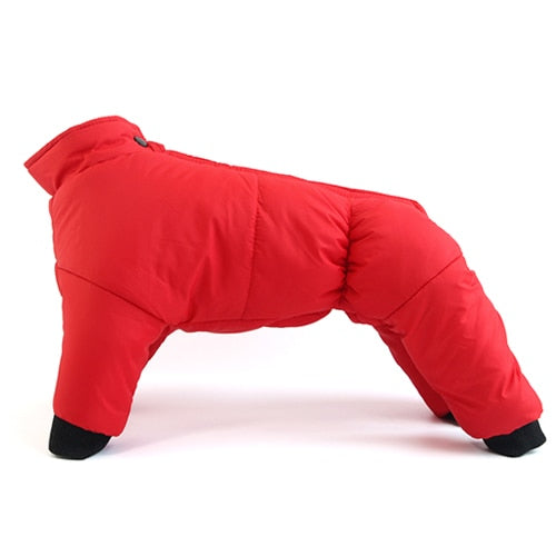 Dogs Waterproof Suit Pet Jackets Snowsuit-Dog apparel-petsoftcare-Red-S-petsoftcare