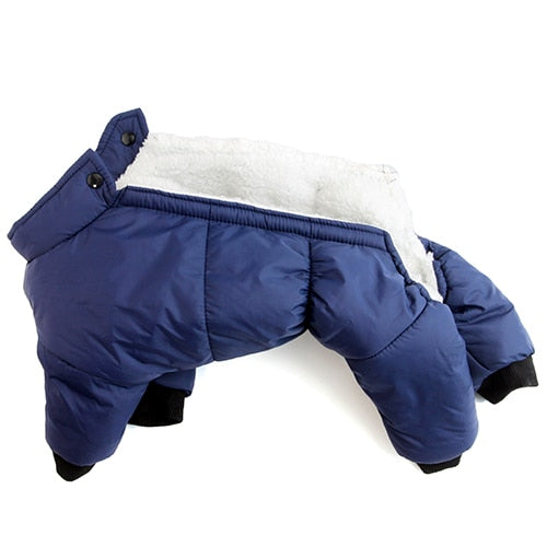 Dogs Waterproof Suit Pet Jackets Snowsuit-Dog apparel-petsoftcare-Navy Blue-L-petsoftcare