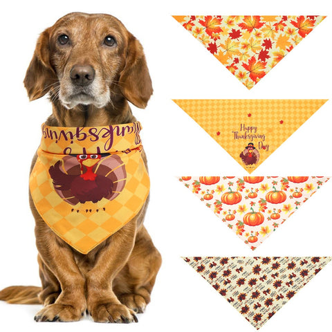 Dog Halloween Adjustable Saliva Towel Puppy Kerchief