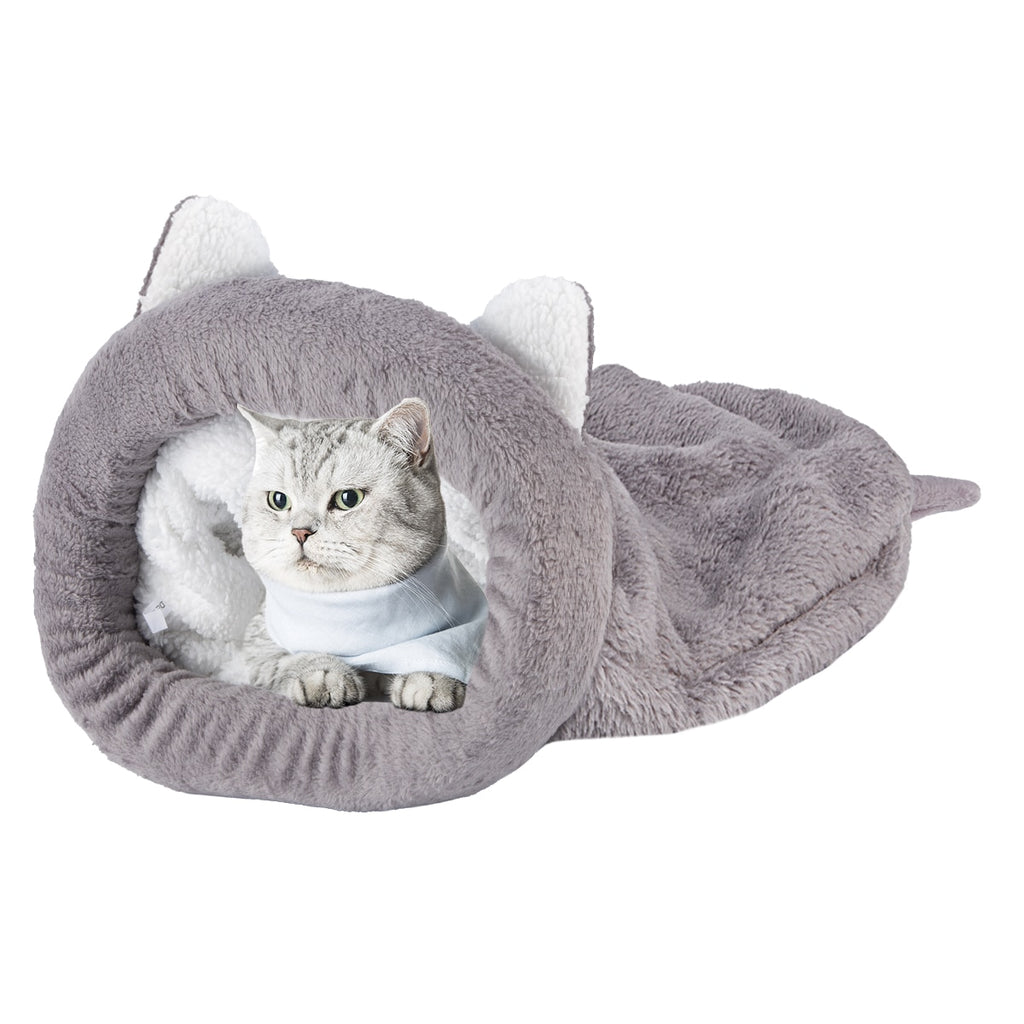 Warm Cozy Premium Coral Fleece Cat Bed-Cat bed-petsoftcare-petsoftcare