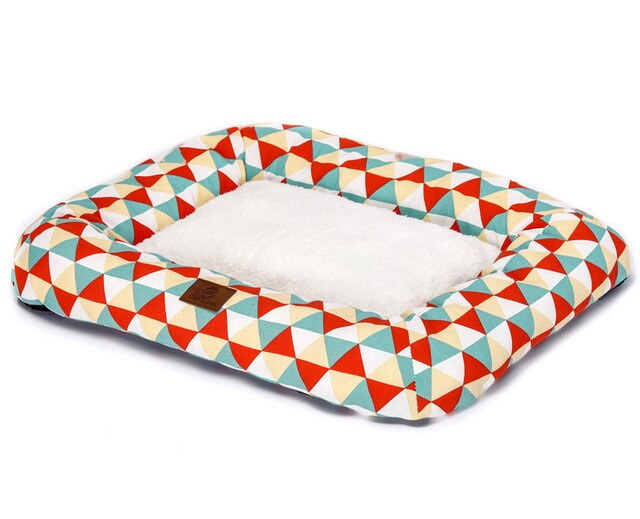 Comfortable Dog Cushion Pet Bed-Dog beds-petsoftcare-Orange Triangle-68 x 53 x 8 cm-petsoftcare