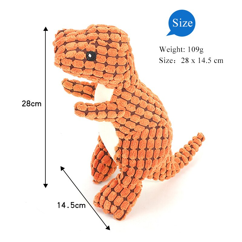 Dog squeak sound toy pet dinasour chew supplies-Dog toys-petsoftcare-petsoftcare