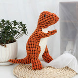 Dog squeak sound toy pet dinasour chew supplies-Dog toys-petsoftcare-orange-28x14.5cm-petsoftcare