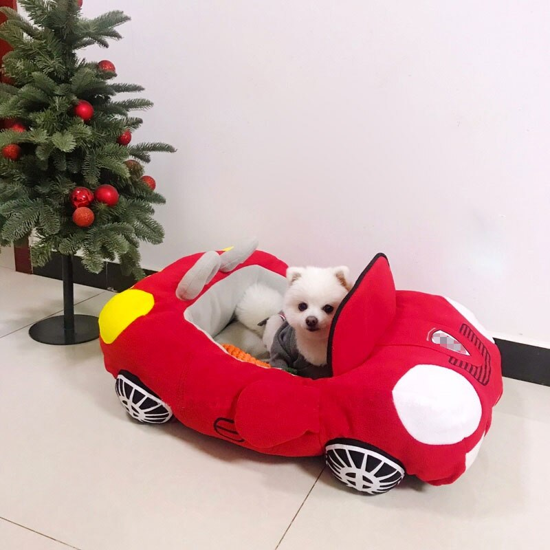 Hot Sell Puppy Pet Dog Bed Fashion Car Shape-Dog beds-petsoftcare-Red-72cm X 50cm X 30cm-petsoftcare