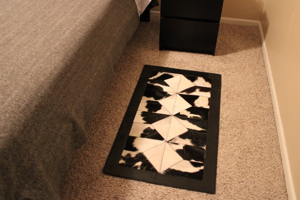 Why A Bedside Cowhide Patchwork Rug Is The Perfect Accessory for your Bedroom