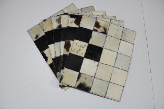 cowhides placemats