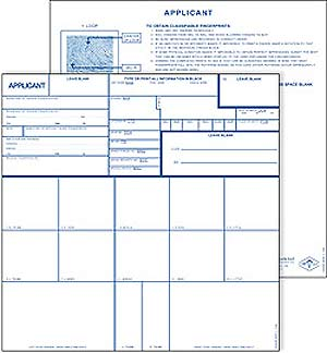FP258C - Applicant Card-FD258 (Coated)