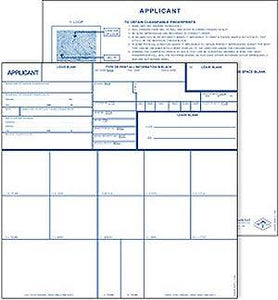 Applicant Card -FD258, Non-Coated