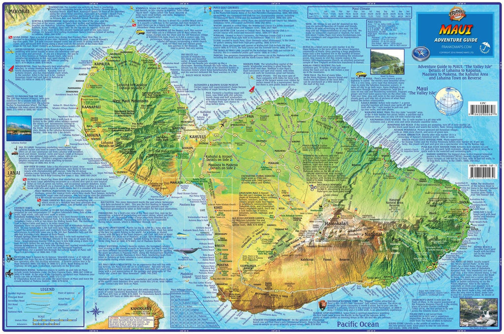 Maui Adventure Guide Map - Frankos Maps