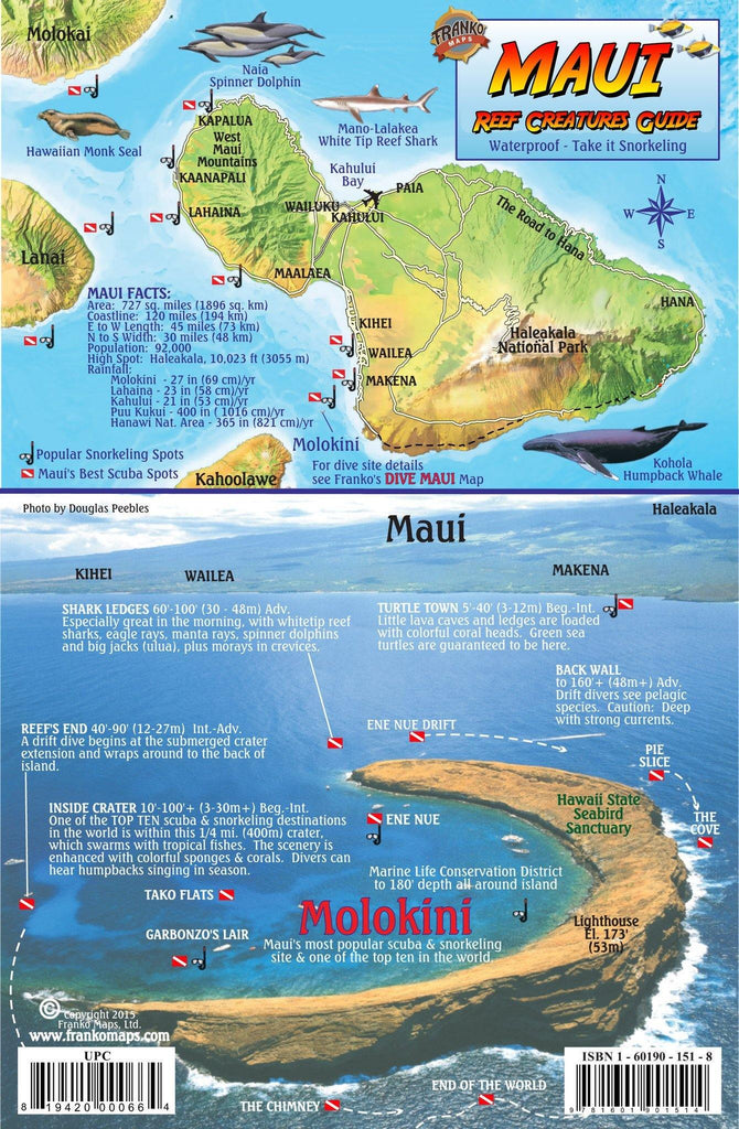 Maui Fish Card - Frankos Maps