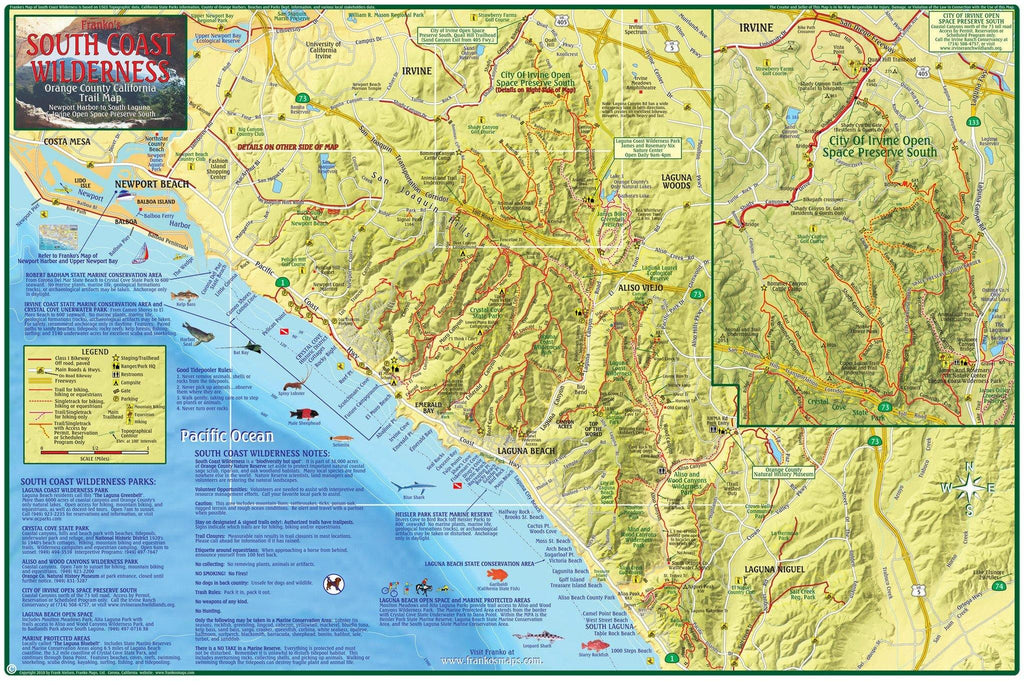 South Coast Wilderness Trail Map - Frankos Maps