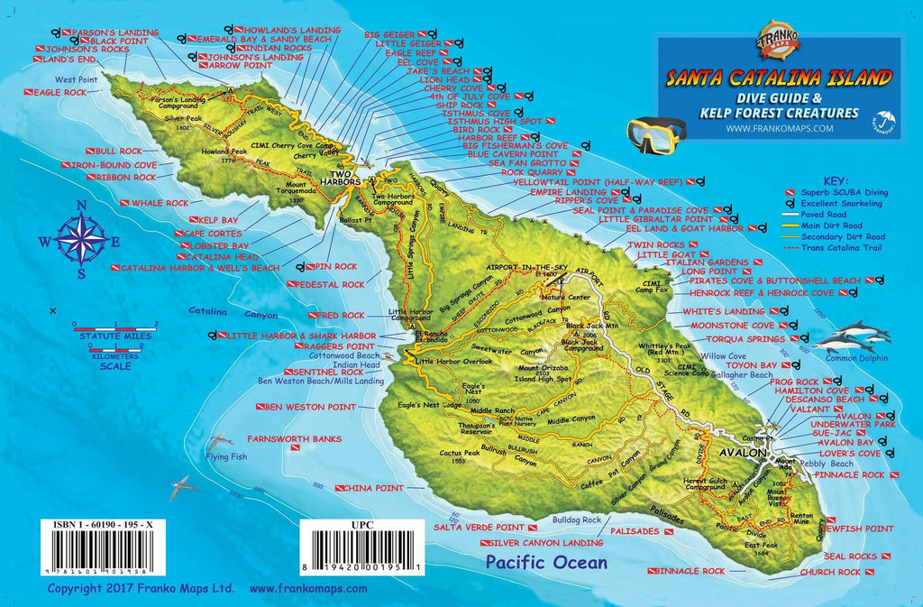 Santa Catalina Island Fish Card - Frankos Maps