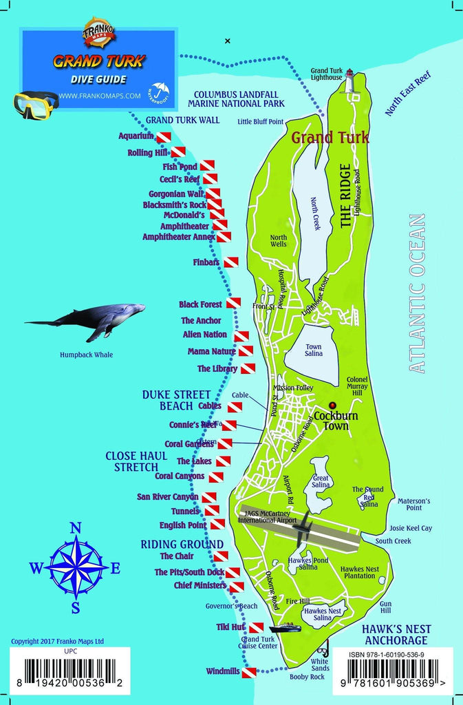 Grand Turk Island Fish Card - Frankos Maps