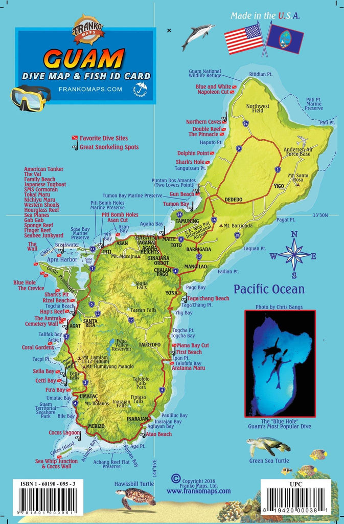 Guam Fish Card - Frankos Maps