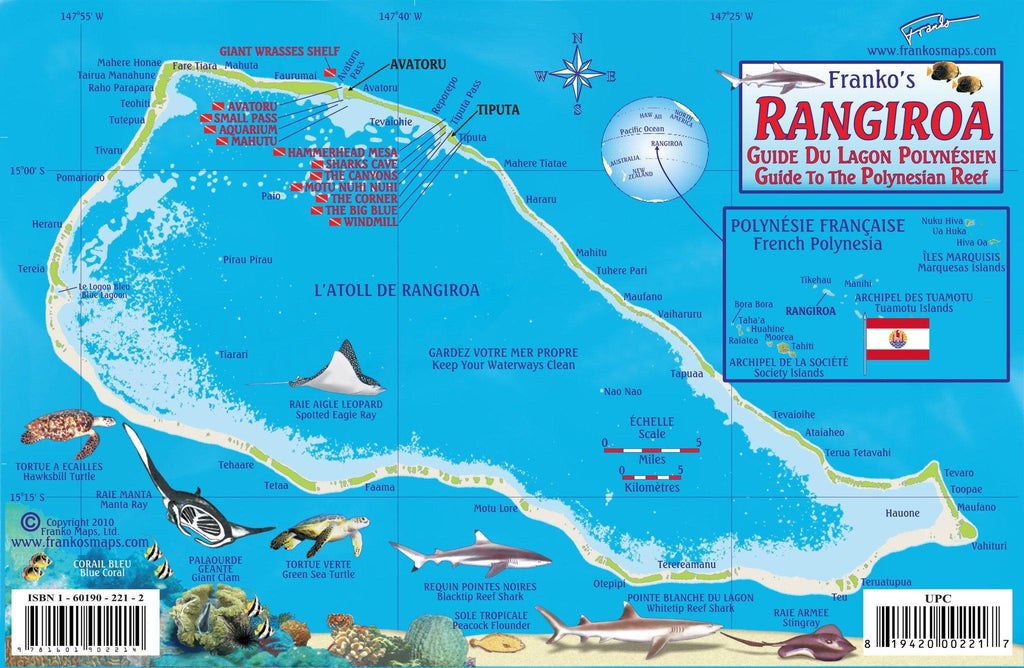 Rangiroa Fish Card - Frankos Maps