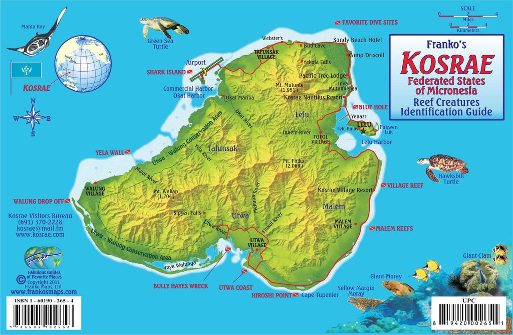 Kosrae Fish Card - Frankos Maps