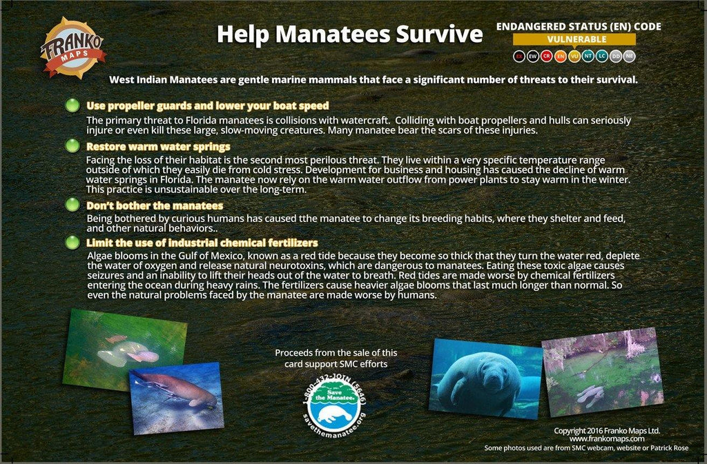 Manatee Life Cycle Card - Frankos Maps