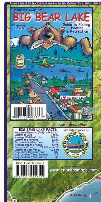 Big Bear Lake Map - Frankos Maps