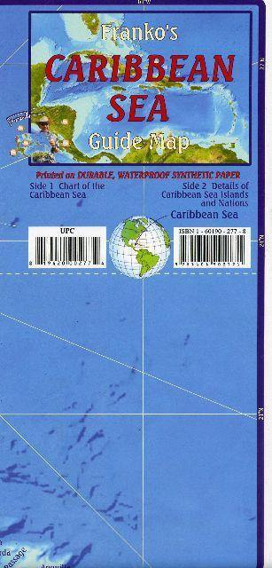 Caribbean Sea Guide Map - Frankos Maps