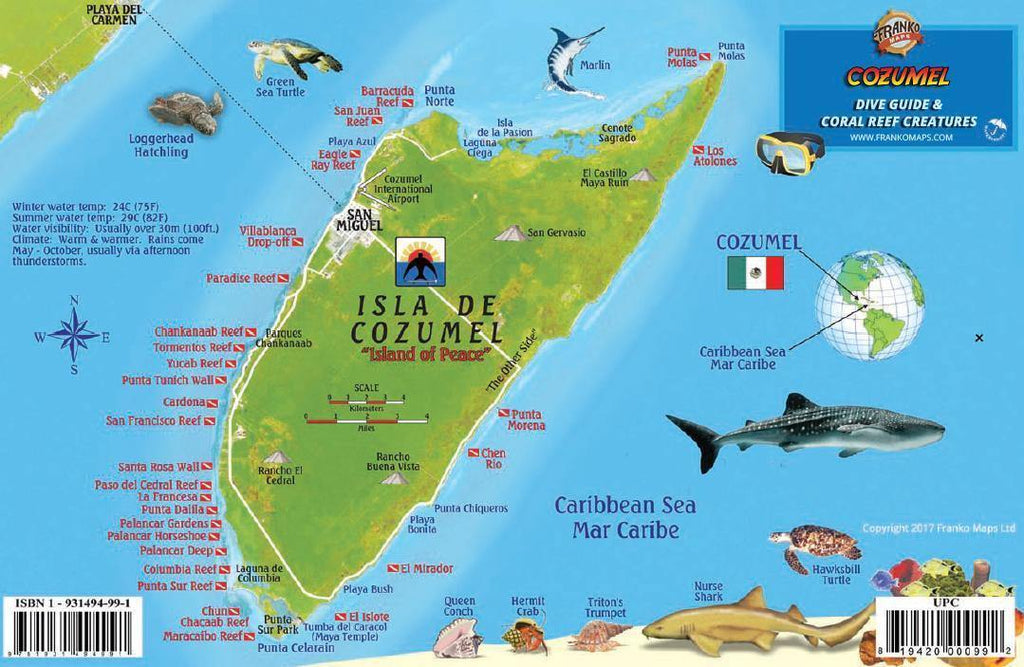 Cozumel Fish Card - Frankos Maps