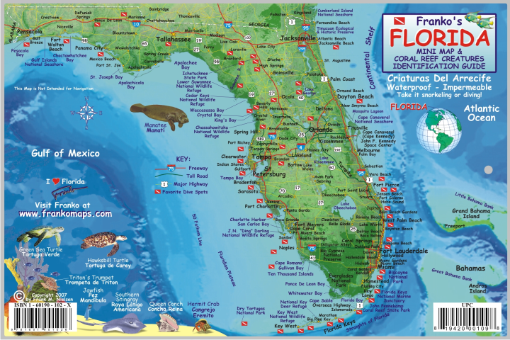 Florida Fish Card - Frankos Maps