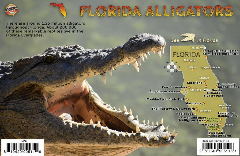 Florida Alligators Guide Card - Frankos Maps