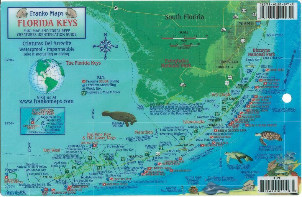 Florida Keys Fish Card - Frankos Maps