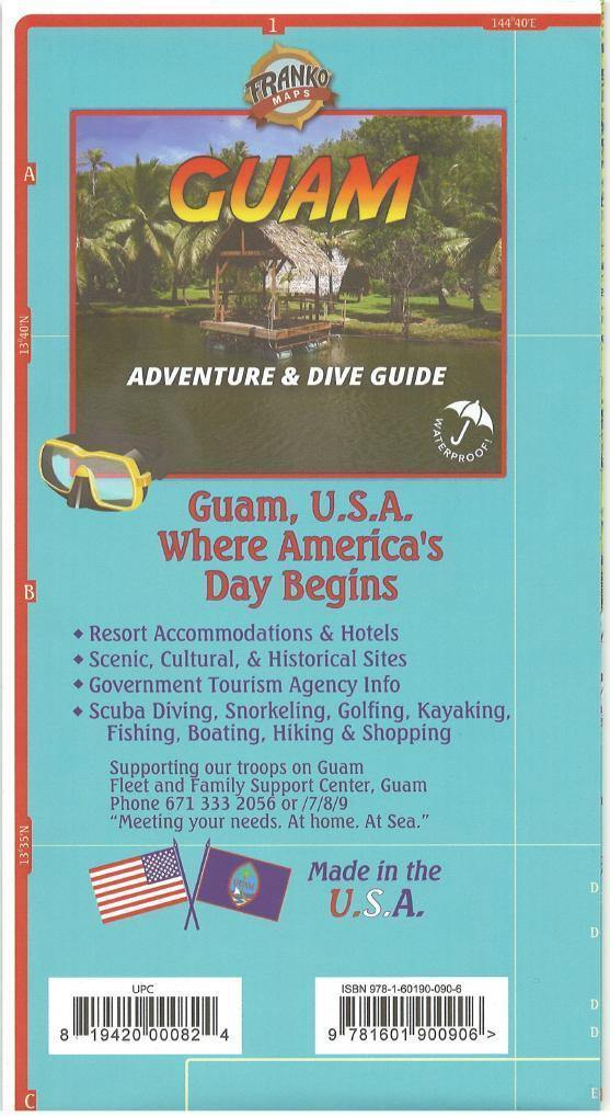 Guam Adventure & Dive Guide Map - Frankos Maps