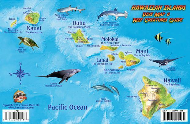 Hawaiian Islands Fish Card - Frankos Maps