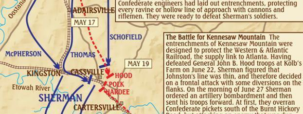Kennesaw Mountain National Battlefield History Guide & Trail Map - Frankos Maps