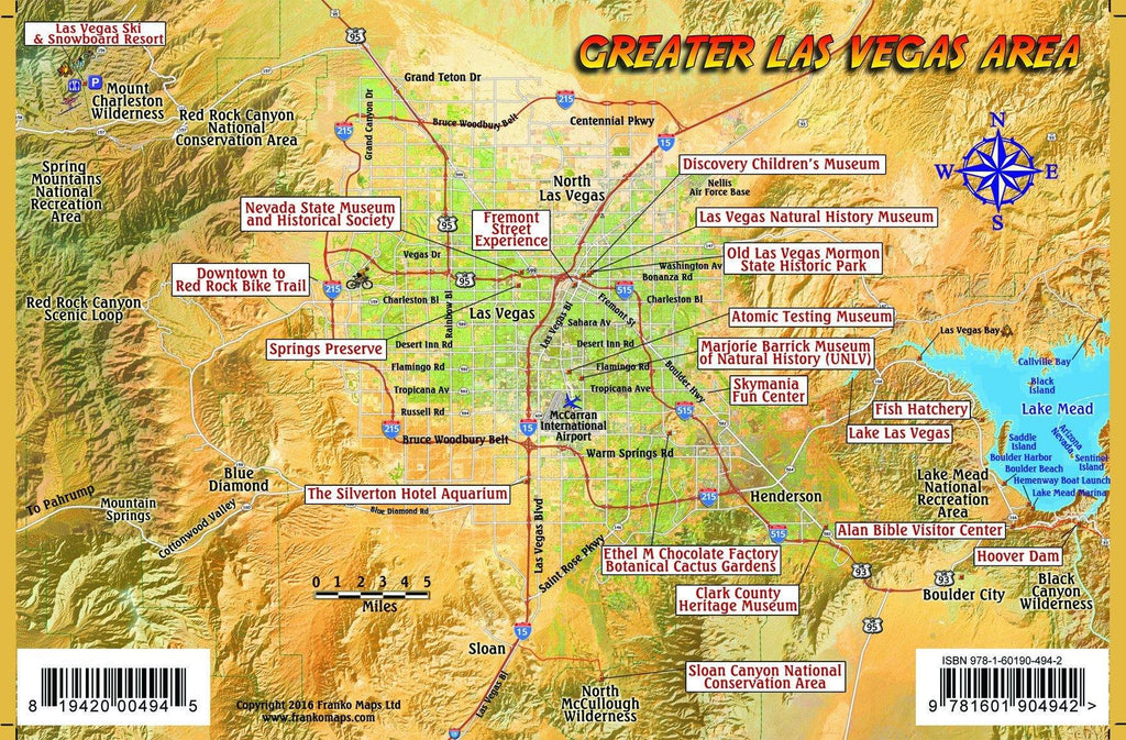 Las Vegas Family Adventure Guide Card - Frankos Maps