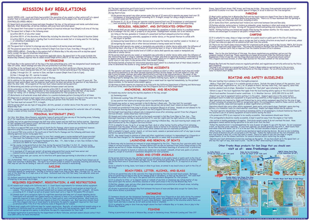 Mission Bay Guide Map - Frankos Maps