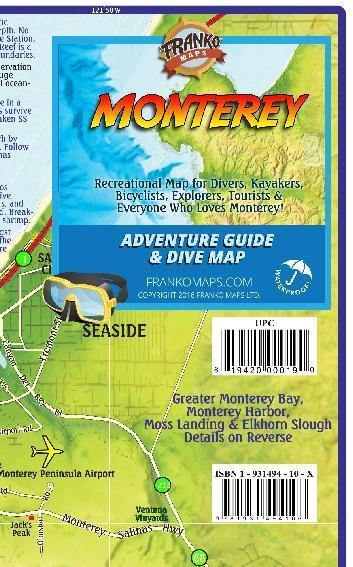 Monterey Adventure Guide & Dive Map - Frankos Maps