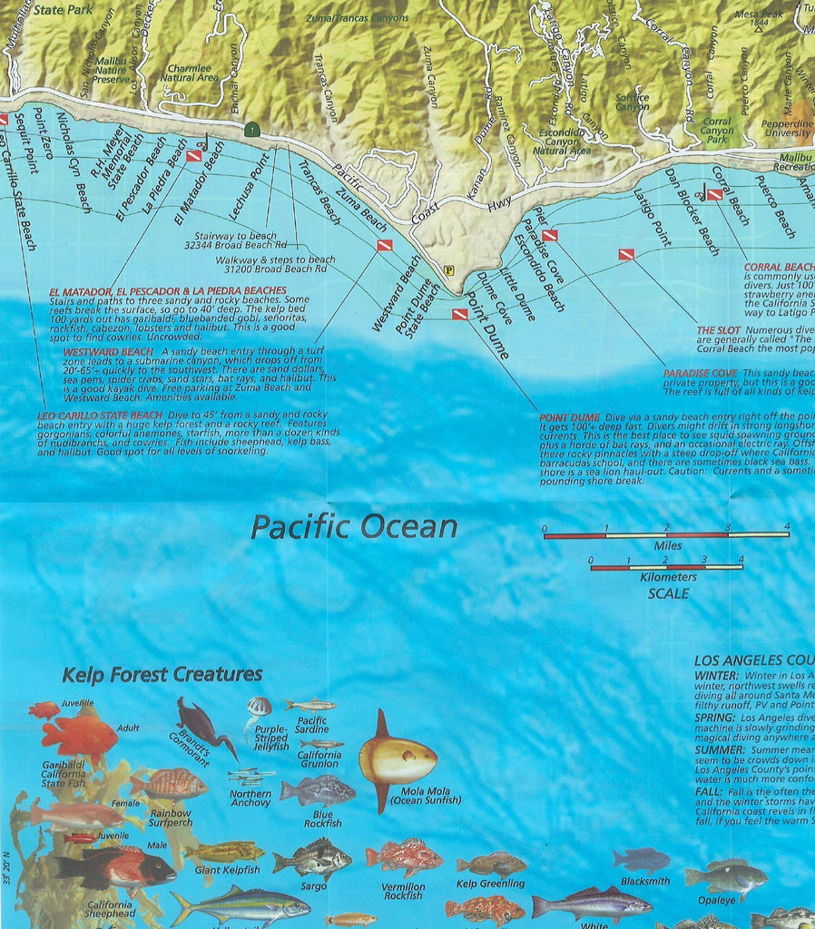 Los Angeles County Dive Map - Frankos Maps