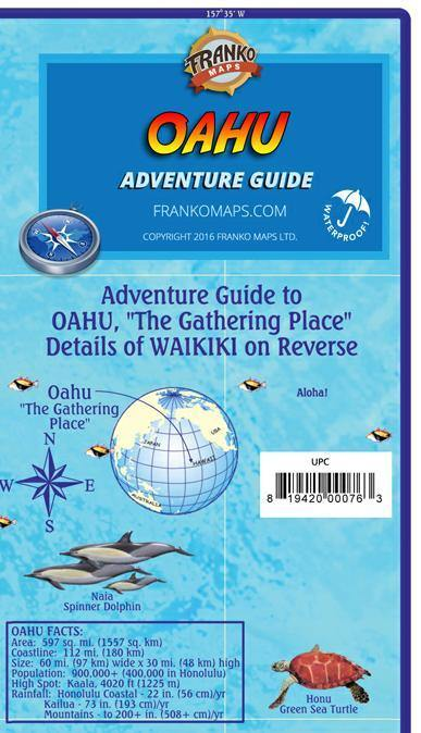 Oahu Adventure Guide Map - Frankos Maps