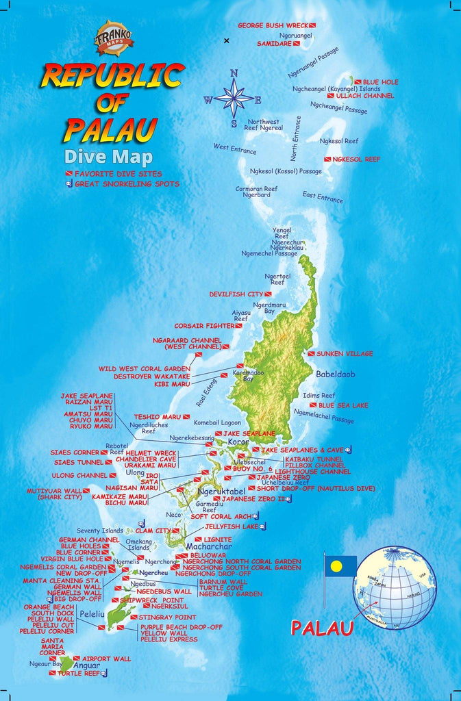 Palau Fish Card - Frankos Maps