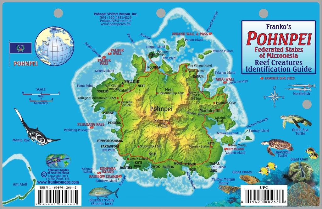 Pohnpei Fish Card - Frankos Maps