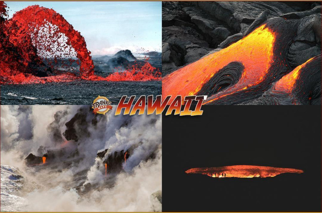 Puna Hawaii Lava Guide Map Card - Frankos Maps