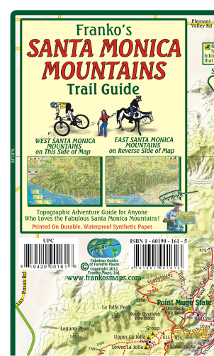 Santa Monica Mountains Trails Map - Frankos Maps