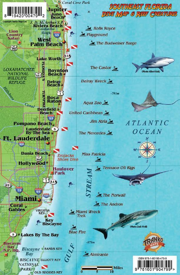 Southeast Florida Fish Card - Frankos Maps