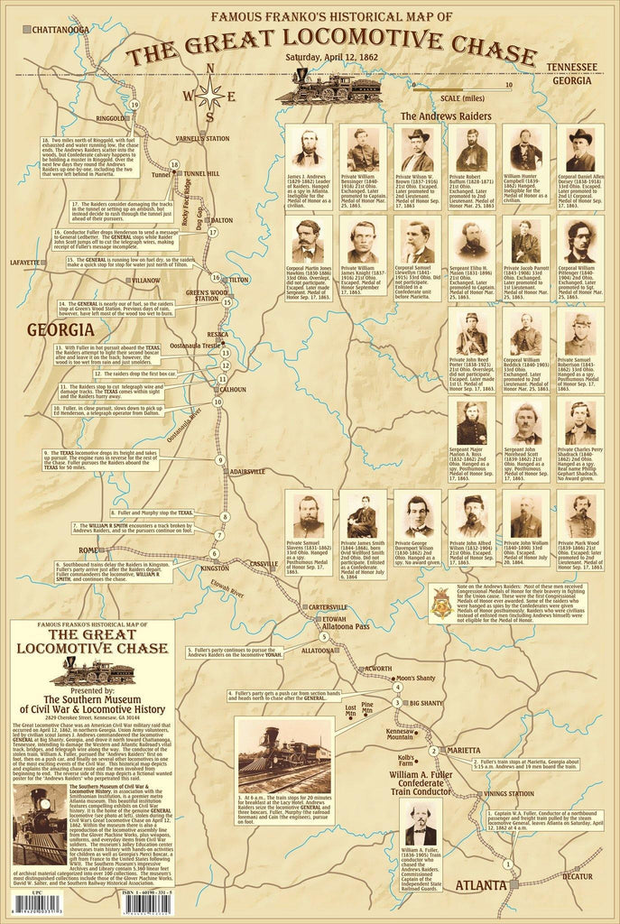 Great Locomotive Chase Map - Frankos Maps