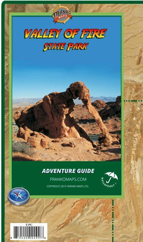 Valley of Fire Adventure Guide Map - Frankos Maps