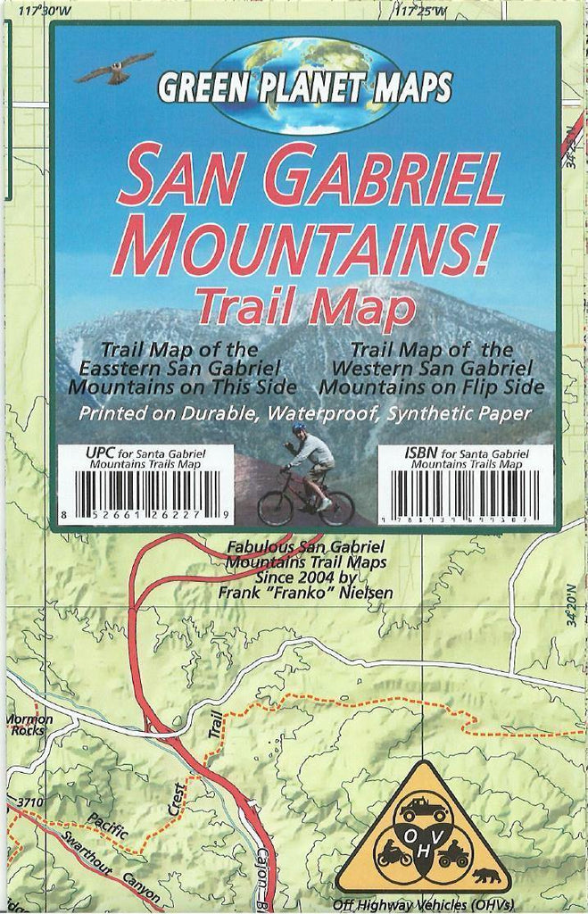 San Gabriel Mountains Trail Map - Frankos Maps